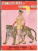 Old 1952 Ringling Bros And Barum And Bailey Circus Program Magazine Brothers