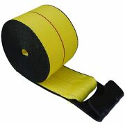 30 4 X 30and039 Flat Hook Winch Straps Flatbed Truck Trailer Tie Down Black Edge