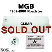Mgb Mgc Roadster 1962-80 Clear Windshield Glass New - Pickup Only