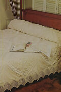 Antique Bedspread And Matching Border Cotton Knitting Pattern 87 X 106