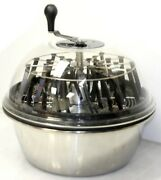 Pro 19 Hydroponics Trim Stainless Bowl Leaf Bud Spin Hand Crank Speed Trimmer