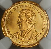 1904 Lewis And Clark Commemorative 1 Gold Coin, Ngc Unc Details Obverse Cleaned