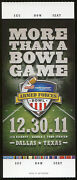 2011 Armed Forces Bowl Byu 24 Tulsa 21 Full Proof Ticket Near Mint Condition