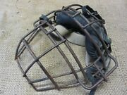 Vintage Leather And Metal Baseball Catchers Mask Antique Old Ball Wilson 7285