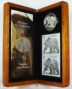 2004 Canada 8 The Great Grizzly Silver Coin And Stamp Set W/ Box And Coa