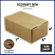 100 7x5x4 Cardboard Packing Mailing Moving Shipping Boxes Corrugated Box Cartons