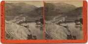 Watkinsand039 Pacific Railroad Stereoview 302 1860and039s Pleasant Valley Looking East