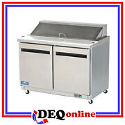 Arctic Air Ast48r Two Door Refrigerated Sandwich Prep Table Holds 12 Pans