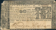 Md-56 Maryland Colonial Currency 2.00 3-1-1770 Xf App W/ Some Pinholes Hv4173
