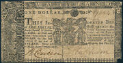 Md-55 Maryland Colonial Currency 1 Issued 3-1-1770 Reinforced Xf App Bp8923