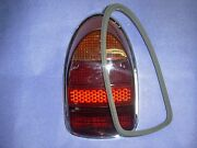 Volkswagen Beetle 1968 Onward Red Amber Silver Tail Light Lens And Gasket New