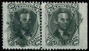 Momen Us Stamps 91 Used Pair Position Sound