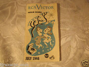 Rca Victor Records Advertising Catalog Pamphlet 1946 Vintage