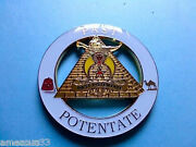 Shriners Past Potentate Cut Out High Quality Car Emblem White Golden