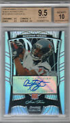 2009 Bowman Sterling Black Refractors Arian Foster Auto Rc Bgs 9.5 W/10 /25