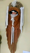 Doll Papoose Leather Basket Sioux Wall Hanging Native American Usa
