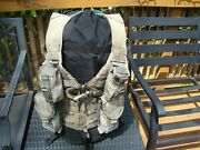Molle Ii Fighting Load Carrier W/ 2 Mag + 2 Grenade Pouches Flc Vest Army Acu