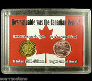2012 Canada Last Penny And The Worldand039s Most Worthless Coin In A Novelty Display