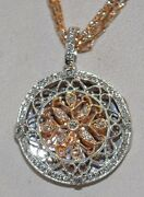 .75ct Diamond Locket In Rose And White Gold/18kt