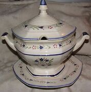 1970s 3 Piece Soup Tureen Lid And Liner Ns National Silver Company Nagoya Japan