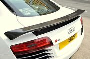 Rtuned Audi R8 Carbon Fiber Gt Rear Wing Spoiler And Frp Base. For Coupe Or Spider