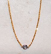 1.20ct Diamonds By The Yard-36 Inches-18kt Y.g.