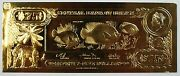 75 Rock Beauty-the First Gold Bank Notes Of Belize W/ Presentation Card