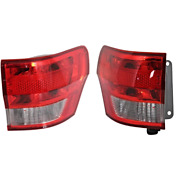 Fits 11-13 Grand Cherokee Tail Lamp/ Light Quarter Mounted Right And Left Set