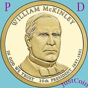 2013 Pandd William Mckinley Golden Presidential Dollars Set From Uncirculated Roll