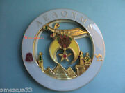 Hall Shriners White Gold Cut Out Car Emblem
