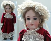Vintage Toys Rebecca Antique Bisque Doll - Approx. 24 Inches High