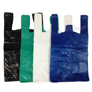 Plastic Carrier Bags Blue/white/black Vest T-shirt Select Qty,size And Thickness