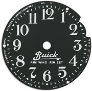Buick Clock Face 1920and039s - 1930and039s Rim Wind Rim Set