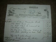Alex Ford Plumbers Gas Fitters And Zinc Workers Coldstream Letterhead 1874