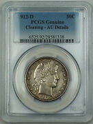 1912-d Barber Silver Half Dollar Pcgs Au Details Cleaning