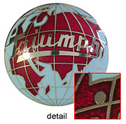 Vintage Triumph Car And Motorcycle Globe Medallion Cloisonne Fired