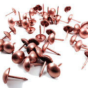 Copper Upholstery Nail Pin - 10.5mm Wide Head - 16mm Length - Stud / Tacks Pins