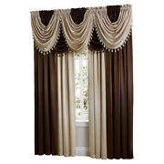 Hyatt Extra Wide Curtain Set In Coffee Bean And Candlelight