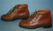 Womens Vtg Sears Brown Leather Mountaineering/trail/hiking/outdoors Boots 9.5 D