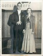 1933 Yale Student Couple At Junior Prom Press Photo