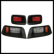 Ezgo Txt Golf Cart Led Headlight And Tail Light Kit 1996-2013 Gas And Electric