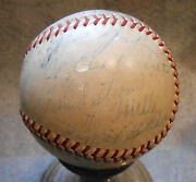 Rare Old Autographed Official Major League Baseball Team Signed Ny Dodgers 1936