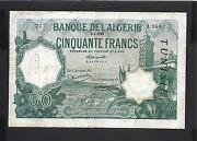Tunisia P-9 Avf 50 Francs 1929 Early Date Type