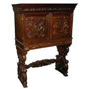 Antique 19th C. American Carved Cabinet C. 1885 4021