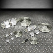 Braided Stainless Steel Vacuum/fuel/radiator/oil Line Dress-up Hose Cover Silver