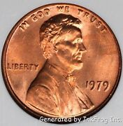 1979 P And D Lincoln Cent 2 Coin Gem Bu From Mint Sets