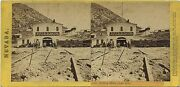 Lawrence And Houseworth Stereoview 735 1860and039s Bullion Mine Gold Hill Nevada