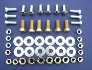 57 Chevy Rear Bumper And Brackets Bolt Mounting Set 1957 Chevrolet New