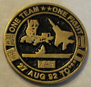 Operation Southern Watch Alysee Jtf-swa Serial 746 Air Force Challenge Coin