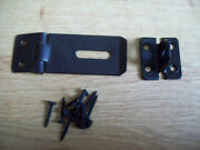 10 X 3 Black Safety Hasp And / And Staplesheds Hutch Gates Doors Lock Latch
